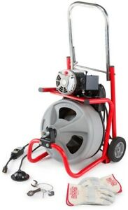 Auger Cable Drain Machine Clog Cleaner Sewer Tub Snake Pipe Commercial Portable