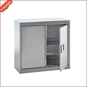 150 lb Per Shelf Capacity Stainless Steel Wall Storage Cabinet With Two Doors Us