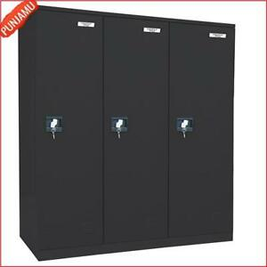 Black Powder Coat Paint Steel Snapit Full Length Locker Secure Storage Cabinet