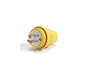a Woodhead 1301470079 Watertite Plug With Locking Blade 3 Pole 4 Wire