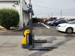 New 2018 Ekko Eb12e Self propelled Electric Straddle Stacker Forklift
