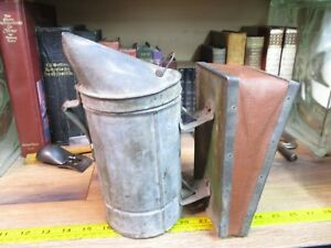 Woodman Bee Hive Smoker Beekeeping Hand Tool Primitve Antique