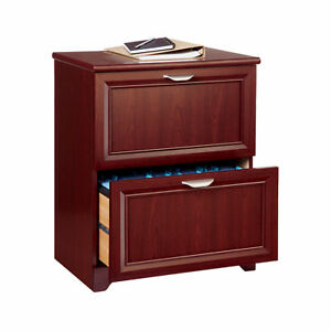 Realspace Magellan Collection 2 drawer Lateral File Cabinet Classic Cherry
