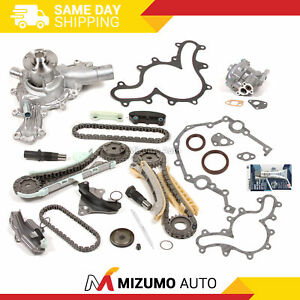 Timing Chain Kit Timing Cover Gaskets Oil Water Pump Fit 97 11 Ford 4 0 Sohc V6