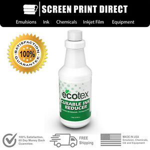 Ecotex Curable Plastisol Ink Reducer For Screen Printing 1 Pt 16oz