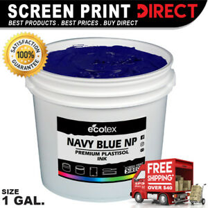 Ecotex 1 Gallon Navy Blue Ink High Opacity Plastisol Ink For Screen Printing