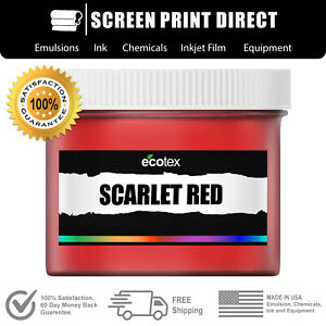 Ecotex Scarlet Red Np Premium Plastisol Ink For Screen Printing 1 Gal 128oz