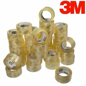 36 Rolls Scotch Commercial Grade Shipping Packaging Box Packing Tape Clear 3750