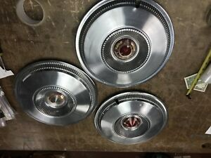 1955 1956 Chrysler Imperial Newport 14 Wheel Covers Hubcaps Set Of 3