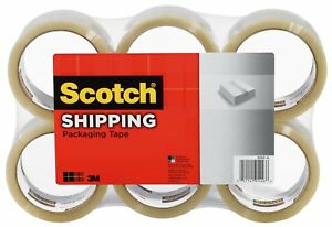 Scotch Shipping Packaging Tape 2 83 Inches X 54 6 yards 6 Pack 3350 xw 6