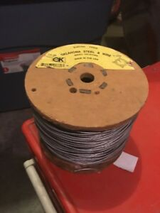 14 Ga Galvanized Electric Fence Wire Oklahoma Steel Wire 1 4 mile