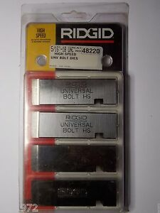 Ridgid 48220 5 16 18 Unc Bolt Threading Dies Rh High Speed For Universal Heads