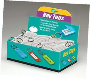 Extra Strength Key Tag With Split Ring 100 Per Box Clear 20400