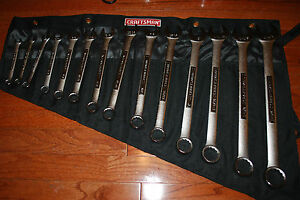 Craftsman 14 Pc 12 Pt Inch Combination Wrench Set W Pouch 44490