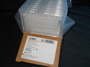 20 Costar 96 well Tc treated Clear Plates W Barcode Labels Lids 3628bc