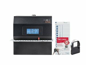 Pyramid 3700 Heavy Duty Steel Time Clock And Document Stamp Usa Open Box