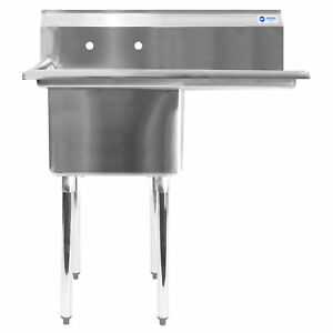 Commercial Stainless Steel Kitchen Utility Sink With Drainboard 39 Wide
