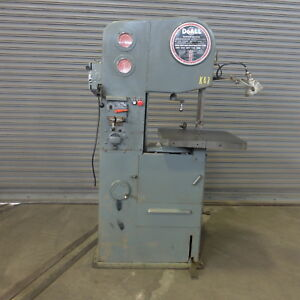 16 Doall Vertical Band Saw Model 1612 1 Blade Welder