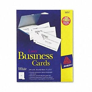 Avery Standard Two side Printable Microperforated Business Cards