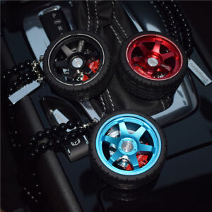 Alloy Wheels Ornaments Car Rear View Mirror Hanging Automobile Perfume Pendants
