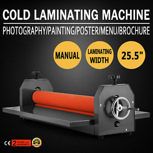 25 5 Manual Cold Laminator Laminating Machine Desktop Vinyl Film Roll Newest