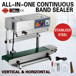 Continuous Band Sealer Vertical horizontal Bag Sealing Machine All in one Food