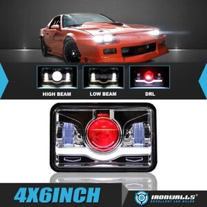 4x6 Cree Led Headlight Projector Crystal Sealed High Low Beam Drl For Chevrolet