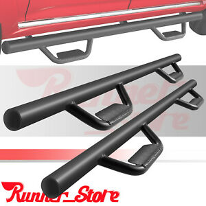 Fit 05 20 Toyota Tacoma Double crew Cab 3 Hoop Running Board Nerf Bar Side Step