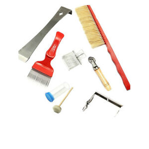 Beekeeping Tools 7 Pcs Equipment Set Bee Keeping Brush Uncapping Fork Catcher