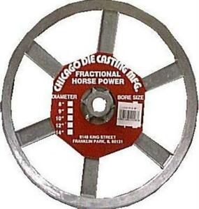 Chicago Die Cast Single V Grooved Pulley A Section Belt Width 10 Dia X 5 8 B