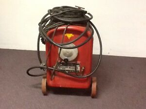 Local Pick Up Lincoln Idealarc 250 Mobile Commercial Welder Wheels Sheet Metal