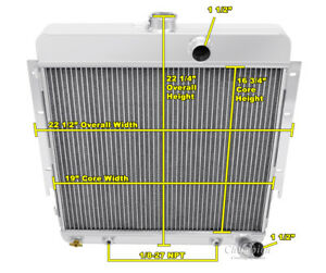 Champion 3 Row Aluminum Radiator For 1964 Plymouth Barracuda L6 Engin