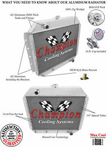 Champion 3 Row Aluminum Radiator For 1968 1979 Ford F Series Truck Chevy Conv