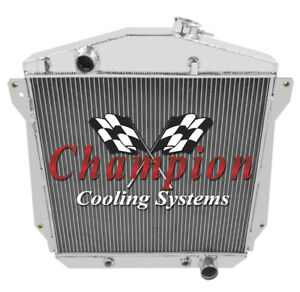 Champion 3 Row Aluminum Radiator For 1943 1948 Chevy Cars Chevy V8 Conversion