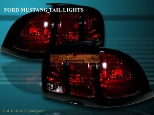 94 98 Ford Mustang Altezza Tail Lights Dark Red 95 96 97