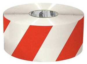 Mighty Line 6rwchvred Ind Floor Tape roll red white vinyl