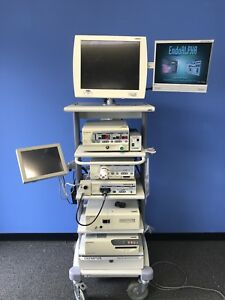 Olympus Endoalpha Endoscopy Tower W s7 Processor Clv s4 Light Source And Uhi 3