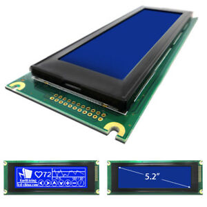 Blue 240x64 Dot Matrix Cog Graphic Lcd Display Module Lcm W t6963 24064