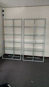Commercial Display Glass And Metal Shelves