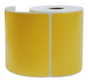 Yellow Zebra 4x6 Shipping Labels Direct Thermal Lp 2844 Zp 450