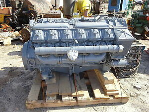 Deutz F12l714 Diesel Engine Complete Core Rare 714 V12 210hp