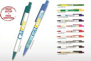 Business Pens Printed With Your Company Name Logo Text In Full Color 250 Qty
