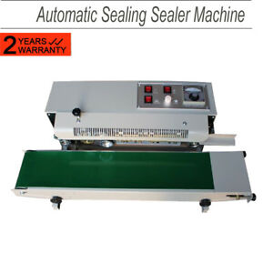 Automatic Horizontal Continuous Pvc Plastic Bag Band Sealing Sealer Machine Ce