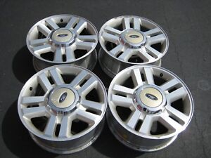 2004 2008 Ford F 150 Oem 18 Inch Wheels Rims W Center Caps Lug Nuts