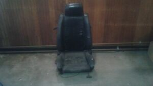 Bmw E30 Black Leather Heated Sport Seat For Restoration