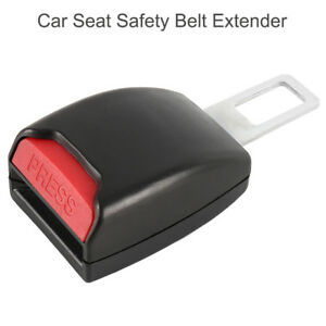 Black Universal Auto Car Safety Seat Belt Buckle Extension Alarm Extender