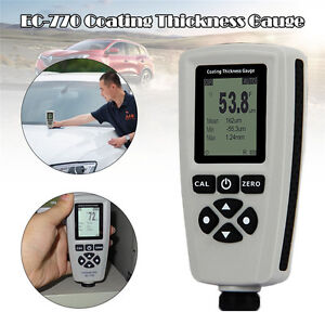 Ec 770 Digital Painting Thickness Meter Lcd Car Coating Thickness Gauge Tester
