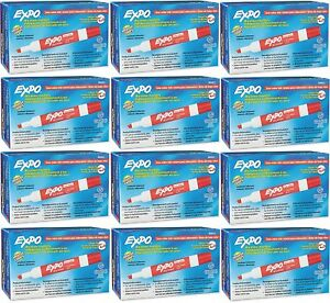 Expo 80002 Low Odor Dry Erase Markers Chisel Tip Red Case Of 144 Markers
