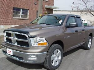 Dodge Ram 1500 Quad Cab 2009 2017 Wind Deflector Bug Shield Combo