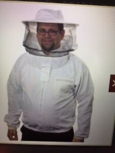 Bee Apiary Jacket With Veil Attached